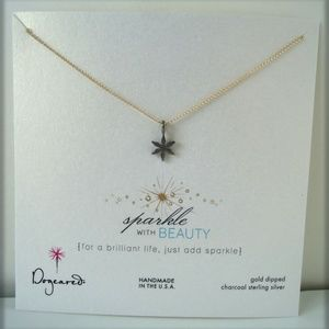 Dogeared Sparkle with Beauty Star Gold Necklace